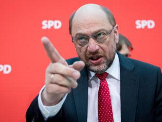 Der SPD-Spitzenkandidat für die Bundestagswahl, Martin Schulz. Foto: Kay Nietfeld/Archiv