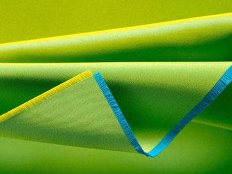 Ein gelbliches Grün ist die Trendfarbe des Jahres. Viele Firmen greifen das nun auf - auch Kvadrat. Foto: Kvadrat
