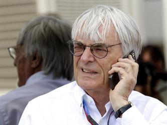 Bernie Ecclestone (l) bestimmte über 40 Jahre die Geschicke der Formel 1. Foto: Valdrin Xhemaj