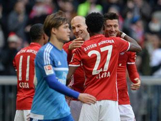 Die Bayern deklassierten den Hamburger SV mit 8:0. Foto: Andreas Gebert