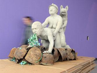 """Ausstellung """"Die Bestie (und) ist der Souverän"""". Foto: Bernd Weißbrod"""