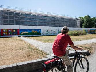 Der Kunstverein Stuttgart krisiert den gescheiterten «Kunst am Bau»-Wettbewerb. Foto: Wolfram Kastl