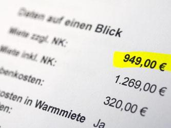 Nebenkosten werden zusätzlich zur Nettomiete gezahlt. In vielen Mietverträgen werden sie gesondert aufgelistet. Foto: Andrea Warnecke