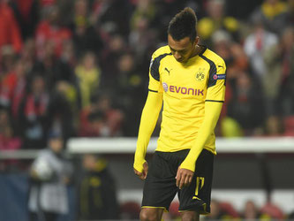 Dortmunds Pierre-Emerick Aubameyang konnte den Elfmeter gegen Benfica Lissabon nicht verwandeln. Foto: Bernd Thissen