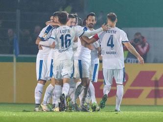 Die SF Lotte schmeißen Bayer Leverkusen aus dem DFB-Pokal. Foto: Guido Kirchner