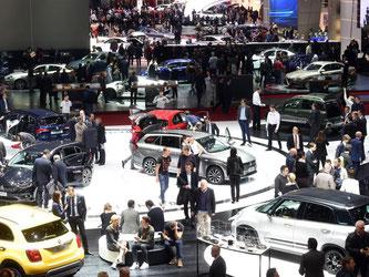 Am 7. März startet der 87. Autosalon in Genf. Als Neuheiten werden unter anderem der Opel Insignia, der neue Volvo XC60 sowie der VW Arteon vorgestellt. Foto: Uli Deck/ Archiv