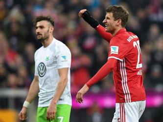 Erlösung für Thomas Müller: Der Nationalspieler erzielte endlich sein erstes Saisontor in der Bundesliga. Foto: Sven Hoppe