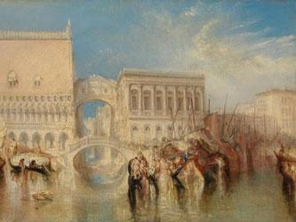 William Turner, Seufzerbrücke, Dogenpalast und Zollhaus, um 1840. Foto: Tate London/Bucerius Kunst Forum
