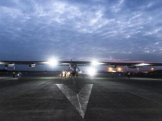 Die «Solar Impulse 2» kurz vor dem Start im südwestchinesischen Chongqing. Foto: Solar Impulse