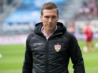 Stuttgarts Trainer Hannes Wolf. Foto: Sven Hoppe/Archiv