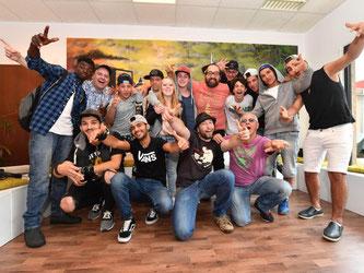 «Rapfugees» ist ein Musik-Projekt von Flüchtlingen und Einheimischen. Foto: Uli Deck