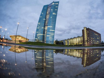 Die Zentrale der Europäischen Zentralbank (EZB) in Frankfurt am Main. Foto: Frank Rumpenhorst