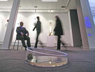 Die Stadt muss die Installation «HHole for Mannheim» in der Kunsthalle nicht wieder aufbauen lassen. Foto: Ronald Wittek