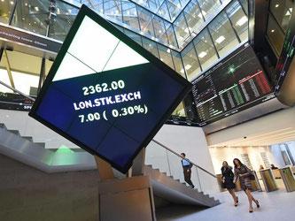 Die London Stock Exchange und die Deutsche Börse verhandeln derzeit über einen Zusammenschluss. Foto: Andy Rain/Archiv
