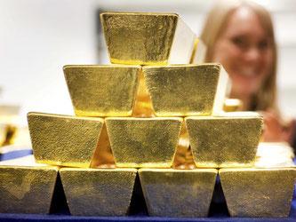 Anlage zum Anfassen: Im Gegensatz zu anderen Rohstoffen lässt sich Gold auch physisch erwerben und lagern. Foto: Frank Rumpenhorst
