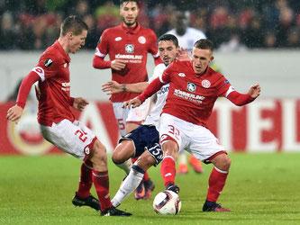 Mainz 05 trennt sich vom RSC Anderlecht mit 1:1-Unentschieden. Foto: Torsten Silz