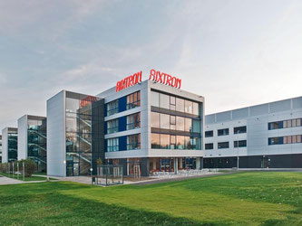 Die Konzernzentrale des Maschinenbauunternehmens Aixtron SE in Herzogenrath. Foto Aixtron Foto: aixtron