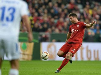 Xabi Alonso traf per sehenswertem Distanzschuss zum 1:0 für den FC Bayern. Foto: Andreas Gebert