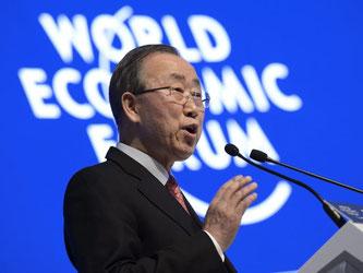 Ban Ki-moon. Foto: Jean-Christophe Bott/Archiv
