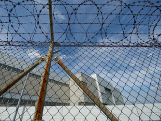 Außenaufnahme der Mehrzweckhalle in Stuttgart-Stammheim. Foto: Marijan Murat/Archiv