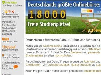 Die Restplatzbörse «studieren.de» zeigt Studienplätze, die noch unbesetzt sind. Foto: www.studieren.de