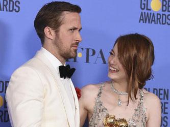 Ryan Gosling und Emma Stone verzaubern das Publikum in dem Musical «La La Land». Foto: Jordan Strauss/Invision