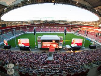 Mitgliederversammlung VfB Stuttgart. Foto: Christoph Schmidt