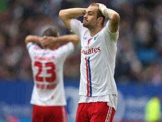 Der HSV kam gegen Hoffenheim nicht über ein 1:1 hinaus. Foto: Axel Heimken