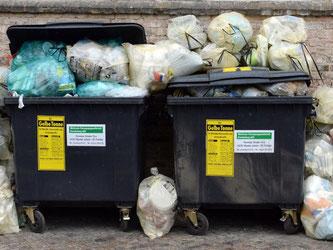 In Flensburg billig, in Leverkusen am teuersten: Die Müllgebühren unterscheiden sich um mehrere Hundert Euro pro Jahr. Foto: Ralf Hirschberger/Archiv