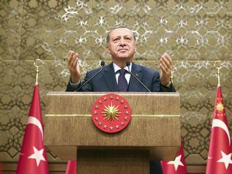 Erdogan wies Kritik aus dem Westen an Inhaftierungen von Journalisten zurück. Foto: Kayhan Ozer