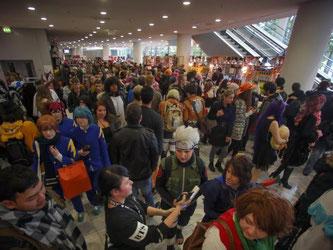 Wie immer: Gedränge auf der Buchmesse in Frankfurt am Main. Foto: Fredrik von Erichsen
