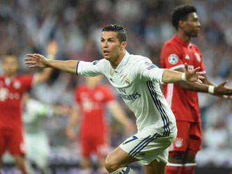 Cristiano Ronaldo jubelt nach seinem 2:2 gegen Bayern München. Foto: Andreas Gebert