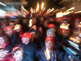 Warnstreiks der Metall- und Elektroindustrie. Foto: Patrick Seeger/Archiv