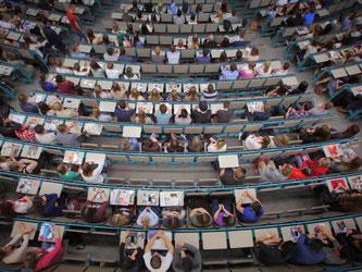 Fast 2,7 Millionen Studenten gab es im Wintersemester 2014/15 an deutschen Hochschulen. Davon waren 500 000 Erstsemester. Foto: Fredrik von Erichsen