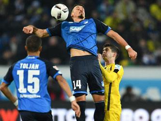 Dier TSG Hoffenheim bleibt in der Bundesliga weiter ungeschlagen. Foto: Uwe Anspach