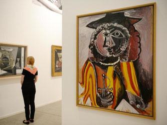 Das Gemälde «Homme á l'épée» (r) von Pablo Picasso. Foto: Franziska Kraufmann