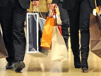 Kauflust: Die Konsumfreude der Deutschen stützt die Konjunktur weiterhin. Foto: Marc Müller/Archiv