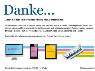 Unter den großen überregionalen Online-Nachrichtenseiten machte «Die Welt» 2012 den Anfang. Foto: Axel Springer AG/Archiv