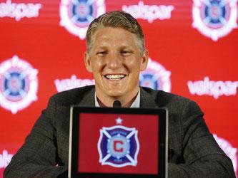 Bastian Schweinsteiger gibt anlässlich seines Vereinswechsels zum MLS-Team Chicago Fire eine Pressekonferenz. Foto: Nam Y. Huh