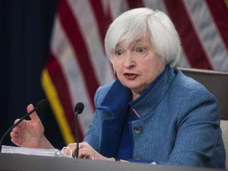 Sieht den Leitzins am Ende des Jahres 2017 bei 1,4 Prozent, bei 2,1 Prozent Ende 2018 und bei 2,9 Prozent am Ende des folgenden Jahres: Fed-Chefin Janet Yellen. Foto: Jim Lo Scalzo