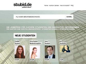 Jobsuche auf neue Art: Auf stubid.de können Studenten ein Vorstellungsgespräch mit einer Firma versteigern. Foto: dpa-infocom