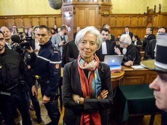IWF-Chefin vor Gericht: Das Pariser Urteil stellt laut Kommentatoren Lagardes Glaubwürdigkeit in Frage. Foto: Christophe Petit Tesson