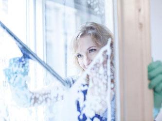 Wie oft sollte man eigentlich die Fenster im Jahr putzen? Profis raten alle zwei Monate dazu. Foto: Christin Klose