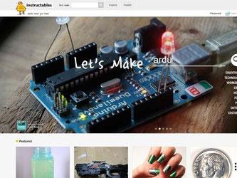 Basteln mit Computerbauteilen? Ideen für bunte Fingernägel? Auf «instructables.com» gibt es unzählige Anleitungen für kreative Projekte. Screenshot: Instructables.com Foto: Instructables.com
