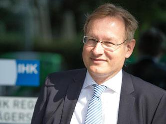 Der neue Hauptgeschäftsführer der IHK Stuttgart, Johannes Schmalzl. Foto: Deniz Calagan