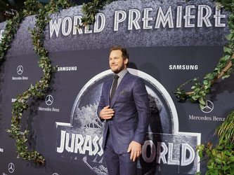 Chris Pratt bei der Premiere von «Jurassic World» in Hollywood. Foto: Nina Prommer