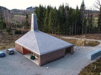 Der neue Forstbetriebshof in einem Wald bei Tannau nahe Tettnang. Foto: Felix Kästle/Archiv