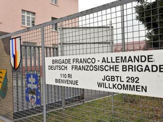 Im baden-württembergischen Standort Donaueschingen wurde eine Vitrine mit Wehrmachts-Stahlhelmen entdeckt. Foto: Patrick Seeger
