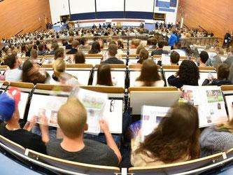 Zahl der Studenten an Hochschulen in Baden-Württemberg ist auf Höchststand. Foto: Uwe Anspach/Archiv