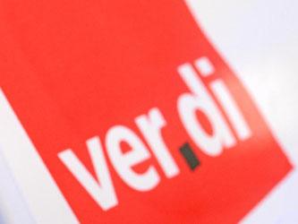 Das Logo der Gewerkschaft Verdi. Foto: Patrick Seeger/Archiv